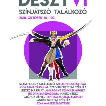 2018.10.16-20. DESZTVI. – 6. Debreceni Egyetemi Színjátszó Találkozó